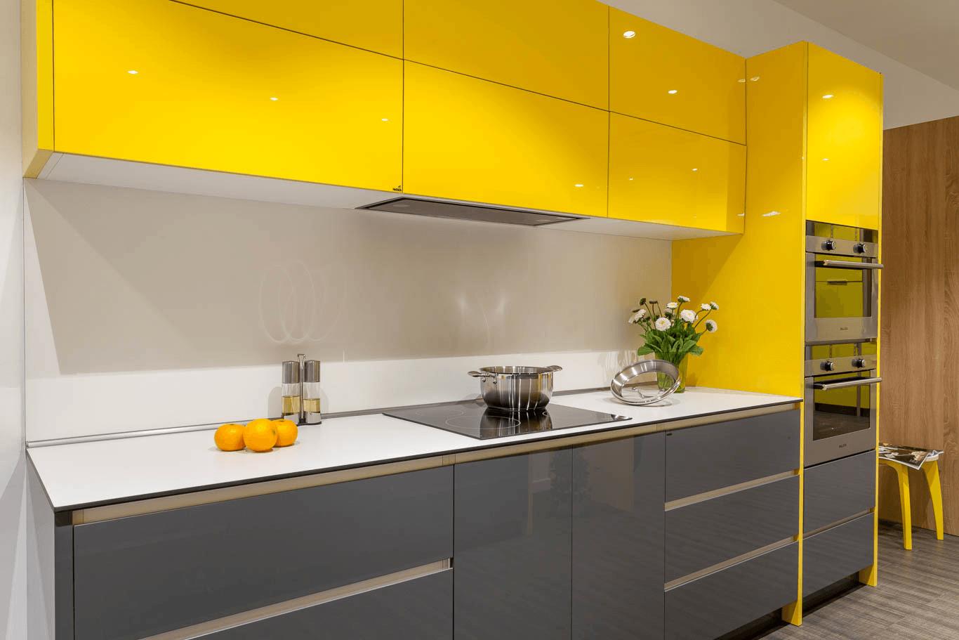 mẫu tủ bếp acrylic an cường