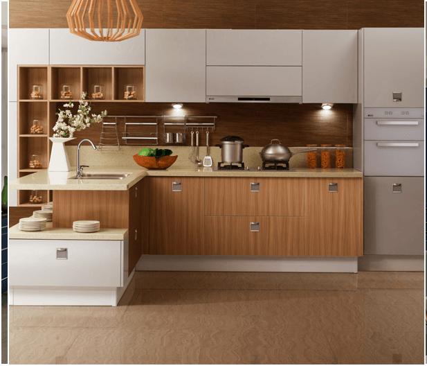 Các loại tủ bếp Melamine có nhiều ưu điểm nổi trội được nhiều người ưa chuộng