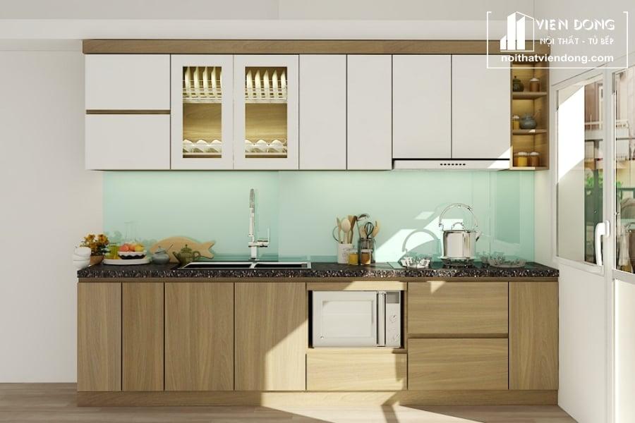 tủ bếp acrylic arc004 chữ I