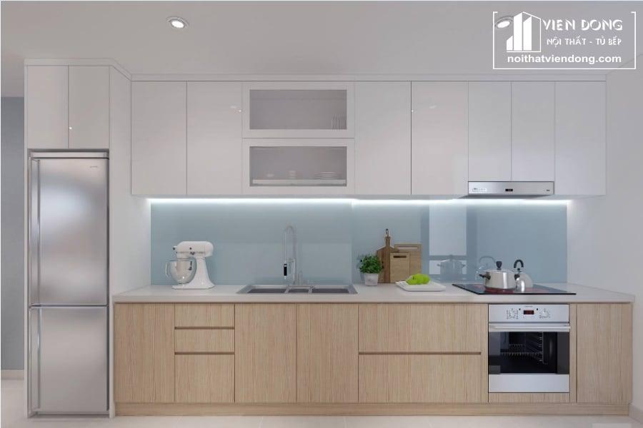 tủ bếp acrylic arc006 chữ I
