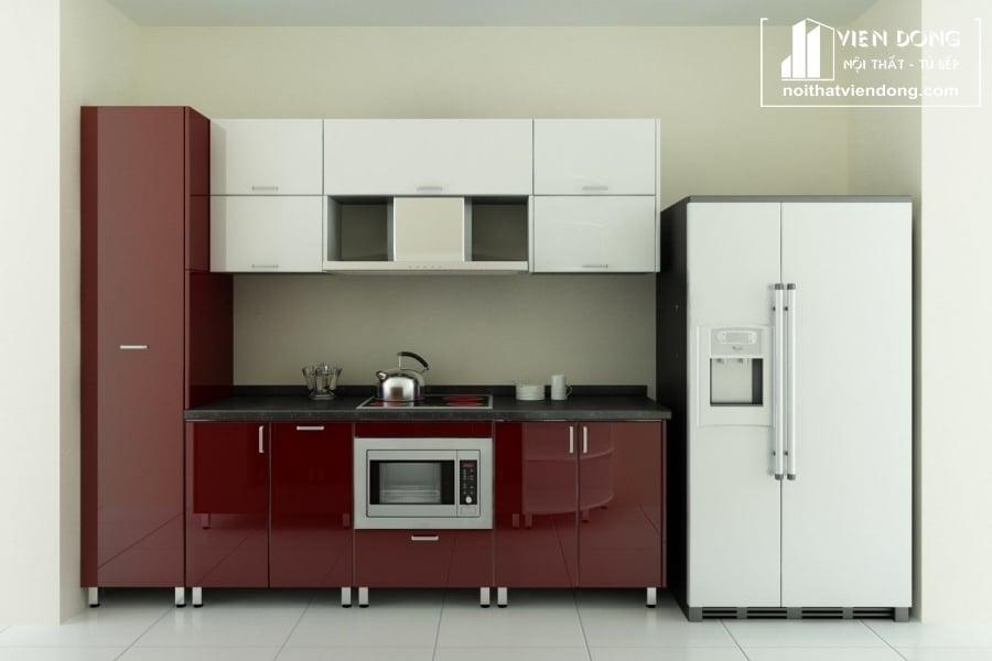 Tủ bếp acrylic arc018 thẳng