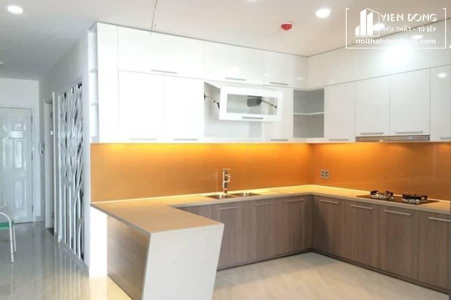 Tủ bếp acrylic arc020 chữ U