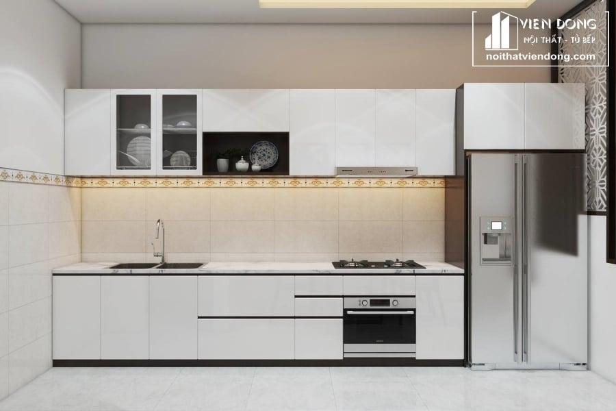 Tủ bếp acrylic arc107 thẳng