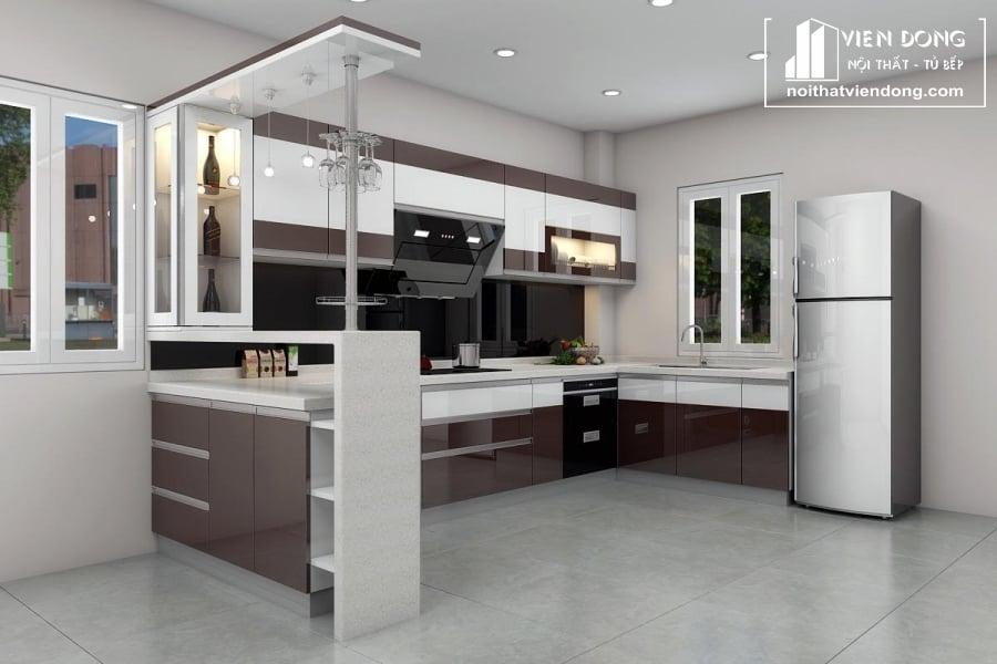 tủ bếp acrylic arc125