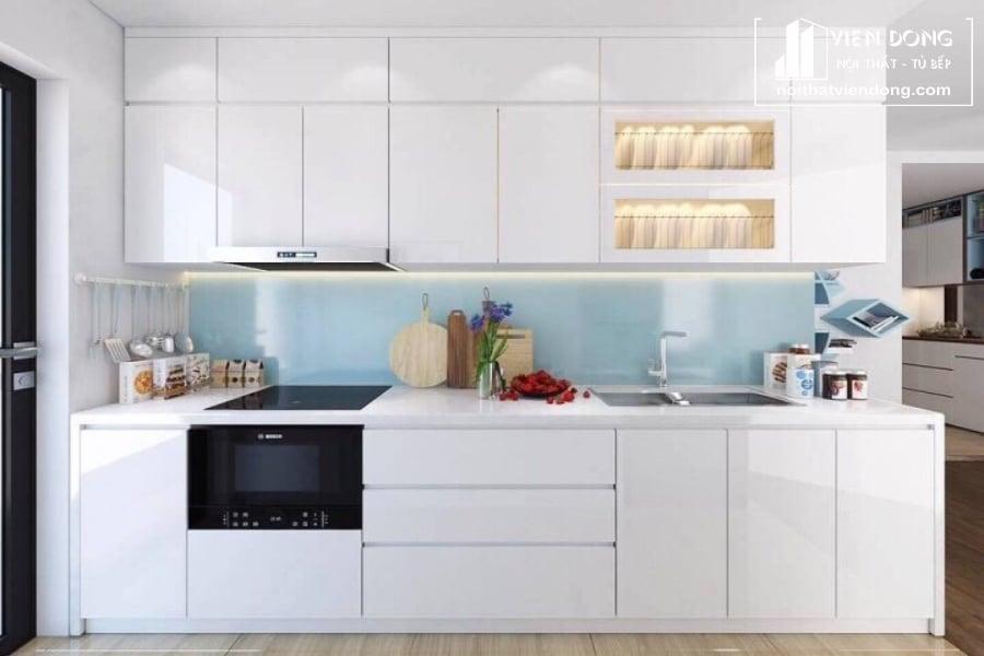 tủ bếp acrylic arc127 chữ I