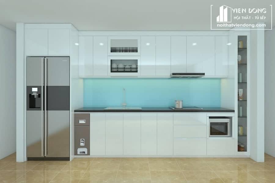 tủ bếp acrylic arc130 chữ I
