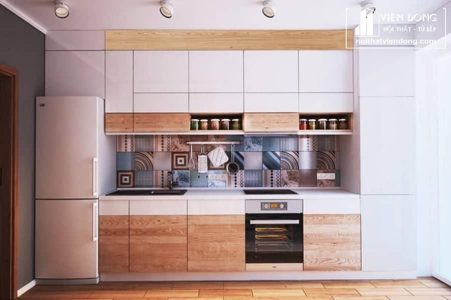 tủ bếp acrylic arc132 chữ I