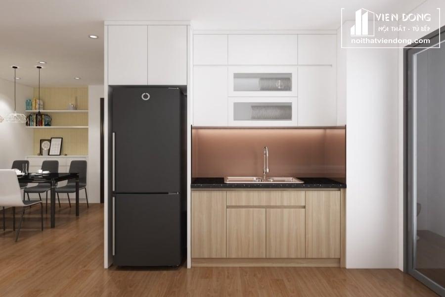 tủ bếp acrylic arc137 chữ I