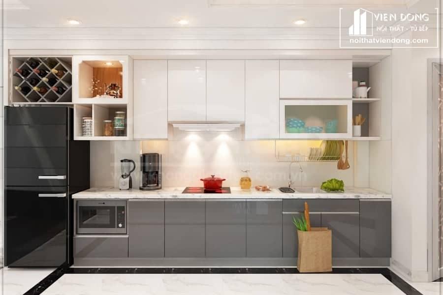 tủ bếp acrylic arc139 chữ I