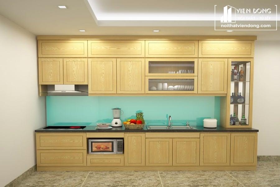 Tủ bếp gỗ sồi nga chữ I TBS110