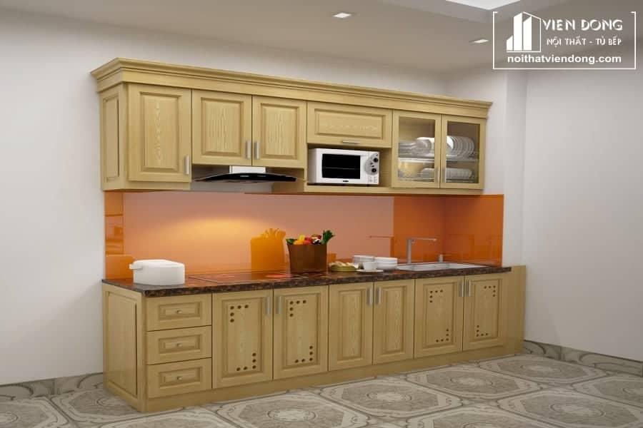 Tủ bếp gỗ sồi nga chữ I TBS115