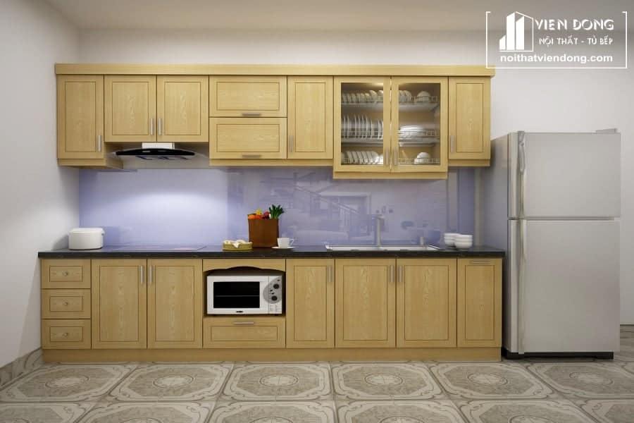 Tủ bếp gỗ sồi nga đẹp TBS122