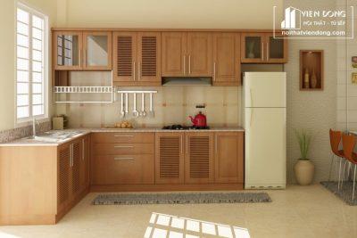 Tủ bếp gỗ sồi mỹ TBS145