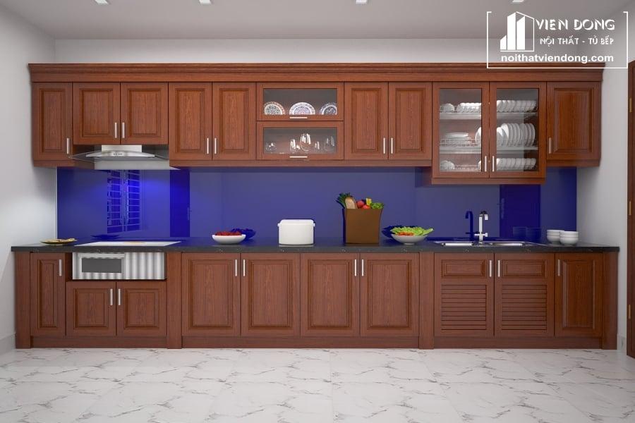 tủ bếp gỗ xoan đào giá bao nhiêu