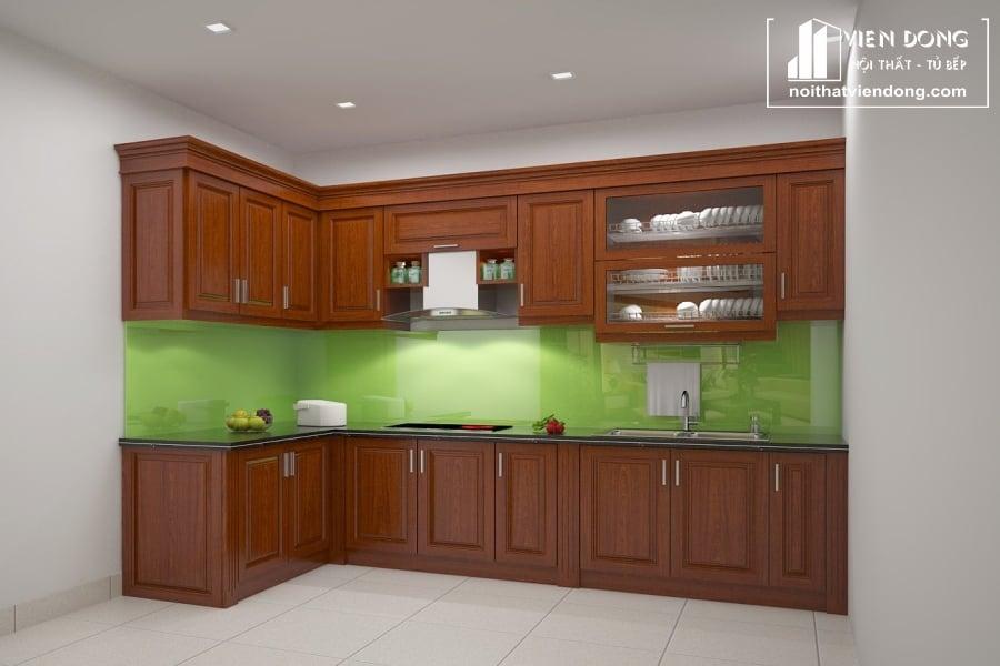 ưu điểm tủ bếp gỗ xoan đào