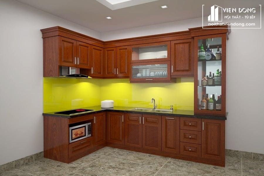Tủ bếp gỗ xoan đào TBX140