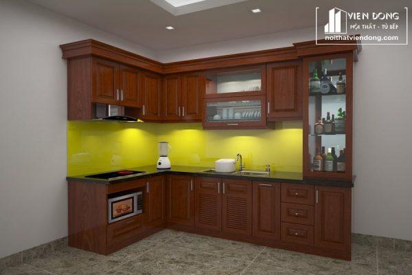 Tủ bếp gỗ xoan đào TBX142