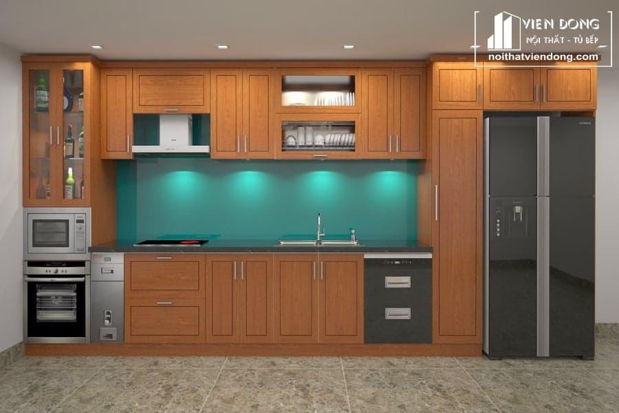 Tủ bếp gỗ xoan đào TBX146