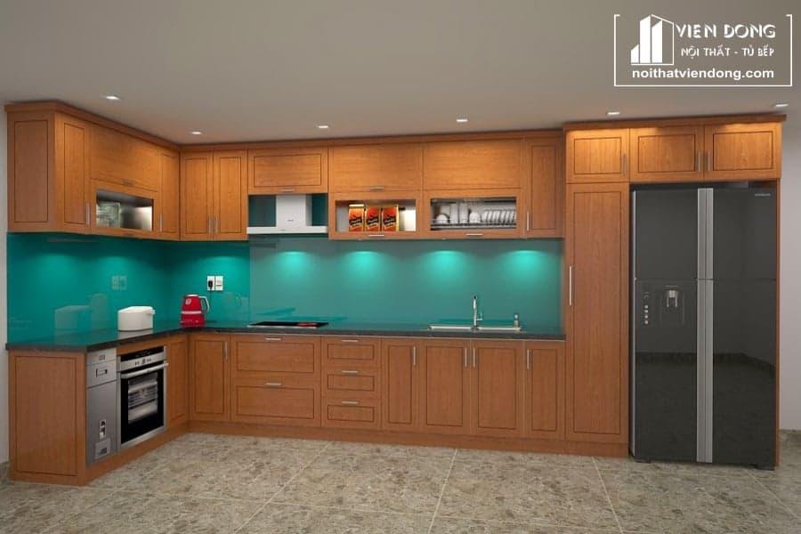 Tủ bếp gỗ xoan đào TBX147