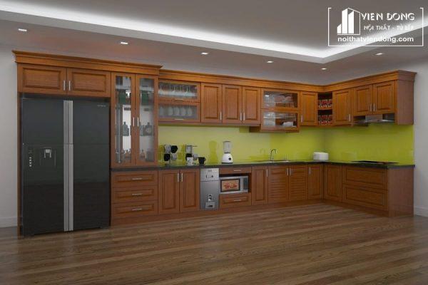 Tủ bếp gỗ xoan đào TBX155