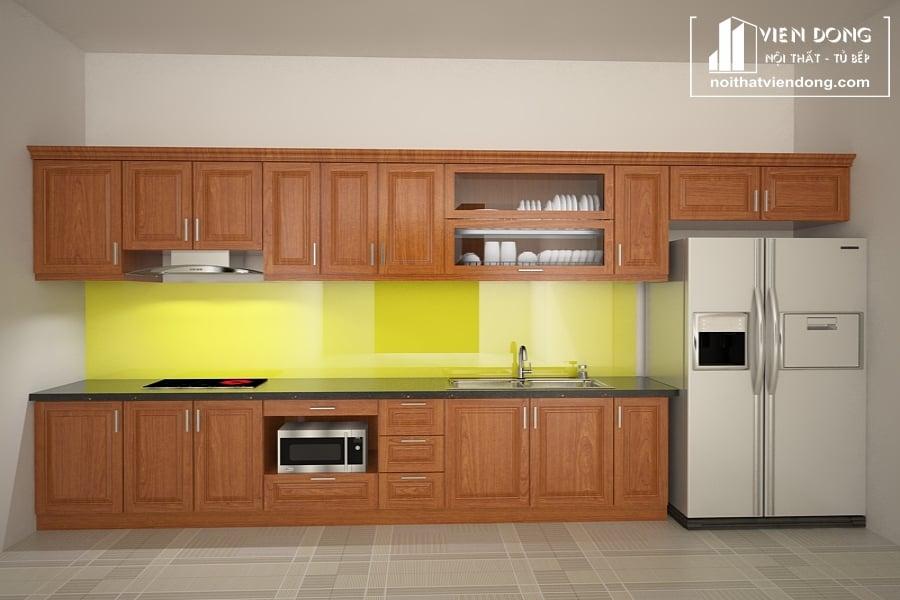 Tủ bếp gỗ xoan TBX165