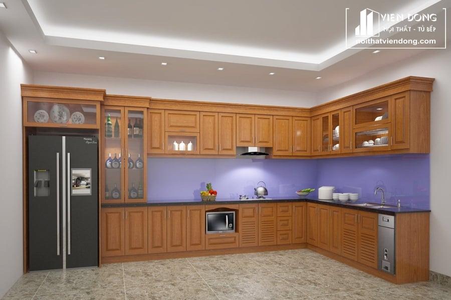 Tủ bếp gỗ xoan đào TBX170