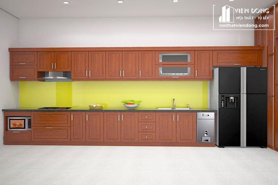Tủ bếp gỗ xoan TBX189