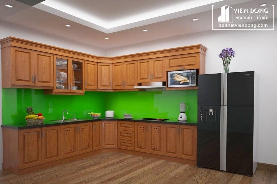 Tủ bếp gỗ xoan đào TBX190