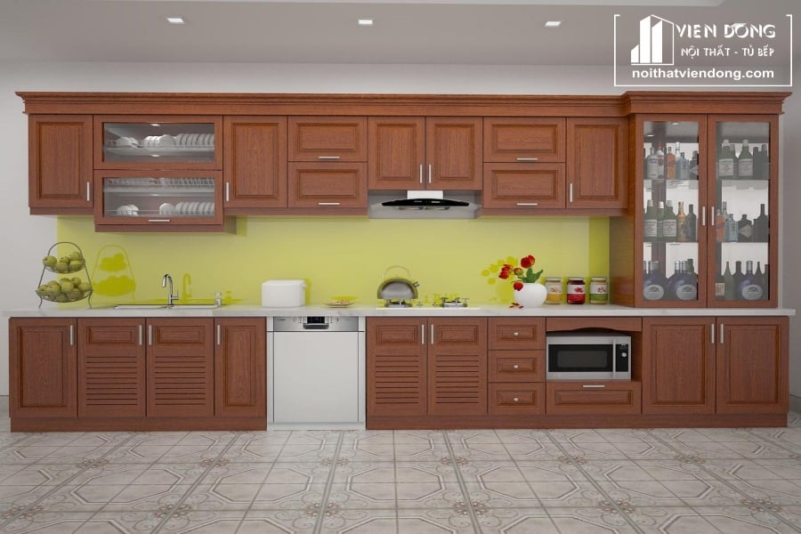 Tủ bếp gỗ xoan TBX191