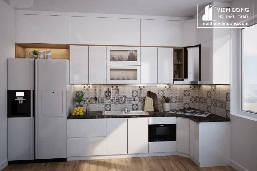 Tủ bếp Melamine TBM005