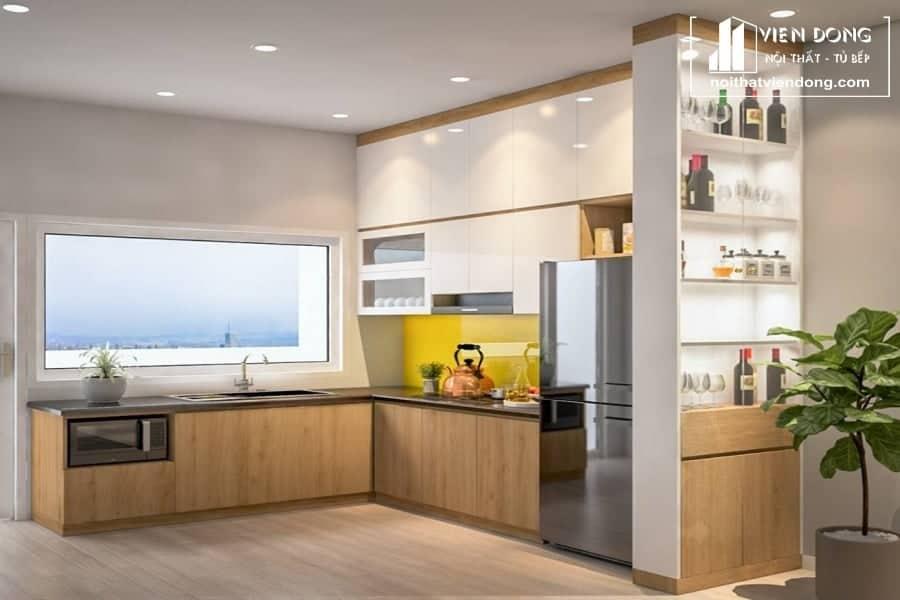 Tủ bếp Melamine TBM014