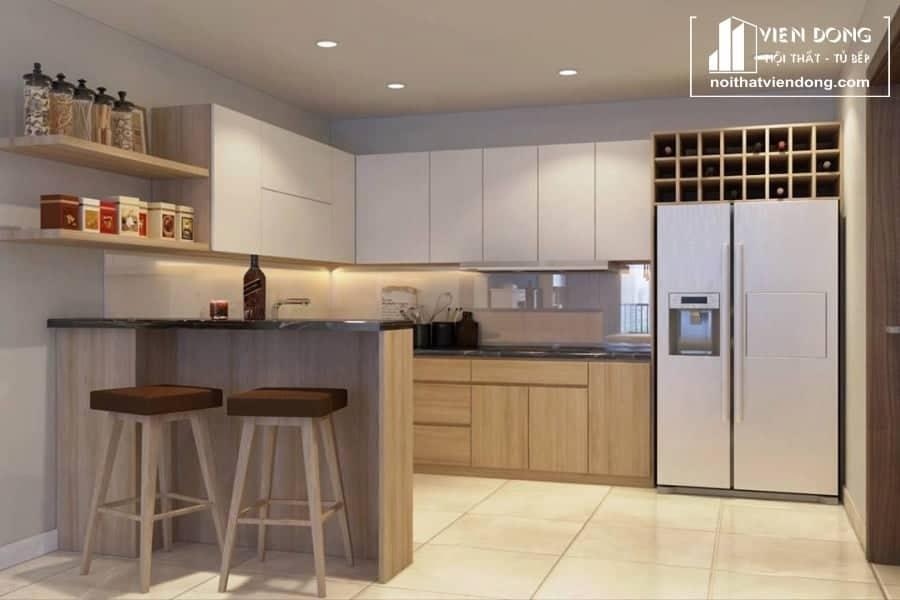 Tủ bếp Melamine TBM018