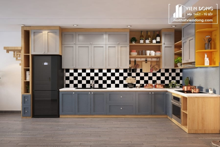 Tủ bếp Melamine TBM023