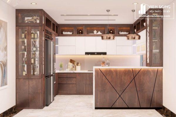 Tủ bếp Melamine TBM044