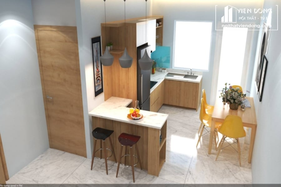 Tủ bếp Melamine TBM080