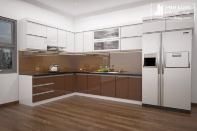 Tủ bếp nhựa acrylic TBN002 đẹp