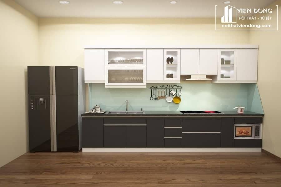 Tủ bếp nhựa acrylic TBN003 đẹp
