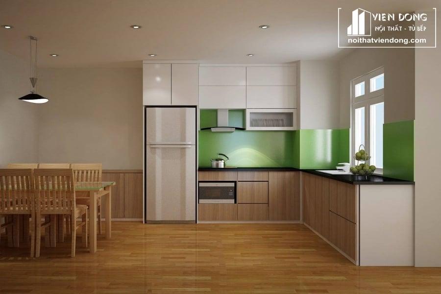 Tủ bếp nhựa laminate TBN007 đẹp