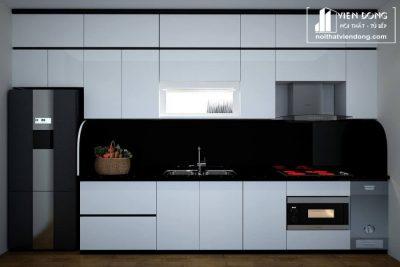 Tủ bếp nhựa acrylic TBN009 đẹp