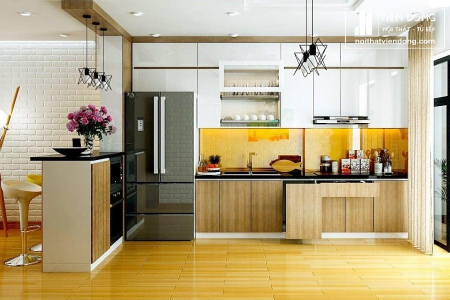 Tủ bếp nhựa laminate TBN011 đẹp