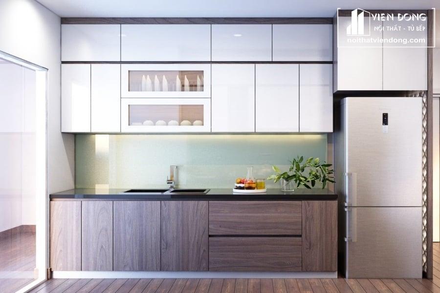 Tủ bếp nhựa laminate TBN013 đẹp