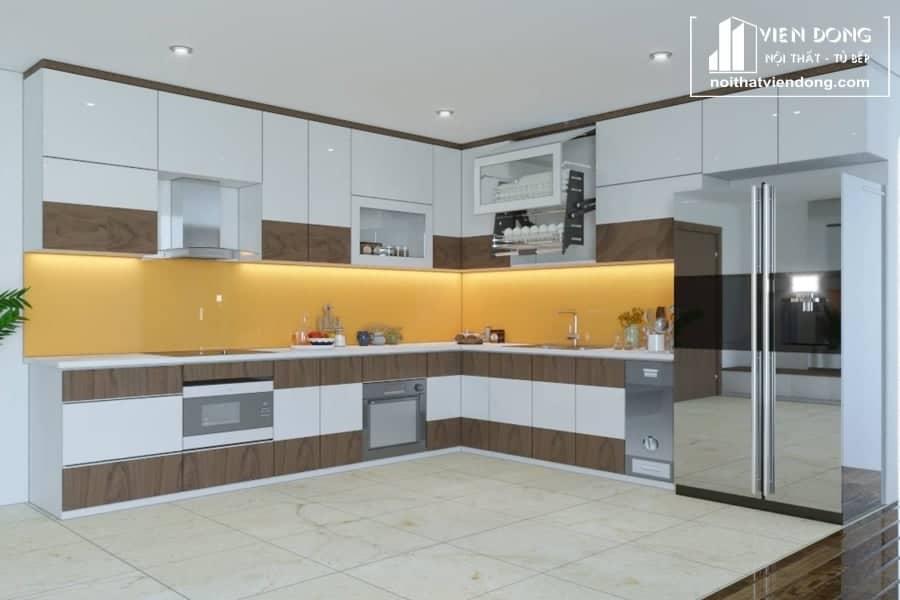 Tủ bếp nhựa acrylic TBN014 đẹp