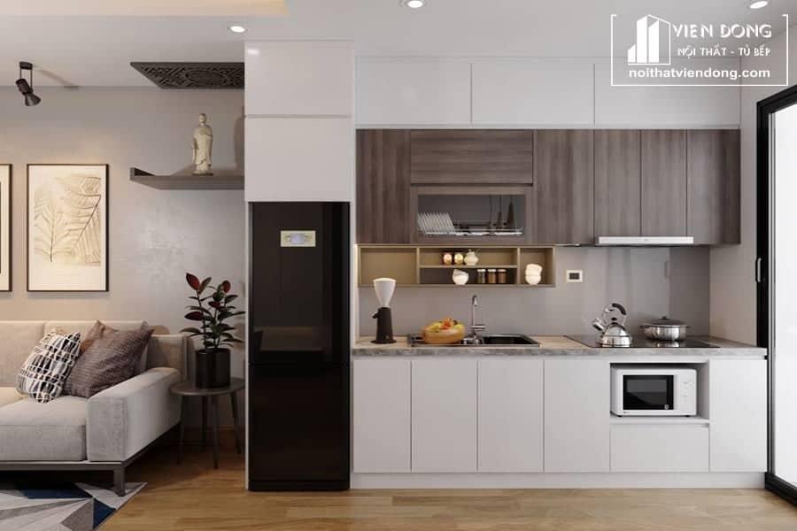 Tủ bếp nhựa acrylic TBN023 đẹp