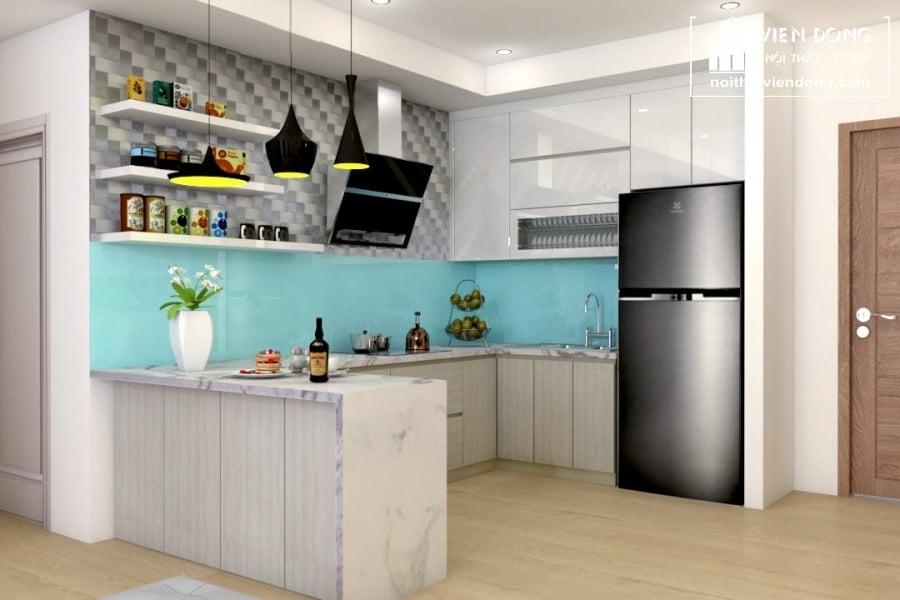 Tủ bếp nhựa TBN026 đẹp