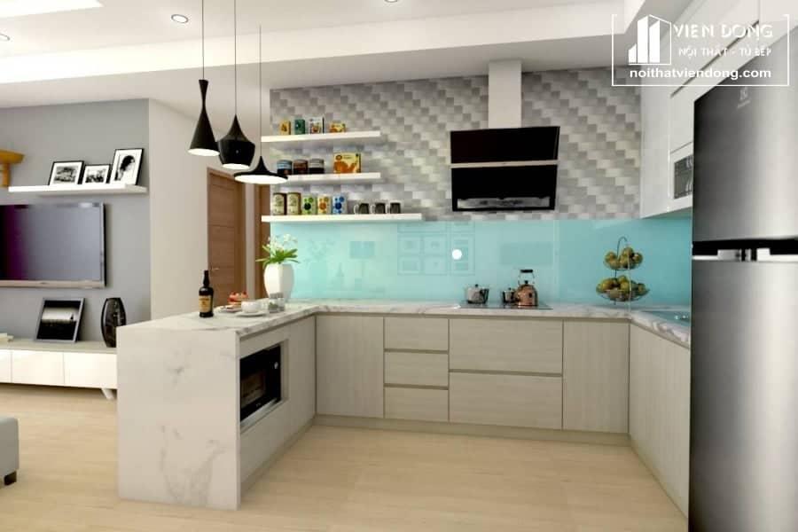 Tủ bếp nhựa TBN027 đẹp