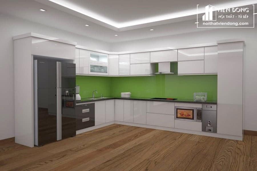 Tủ bếp nhựa chữ L TBN032 đẹp
