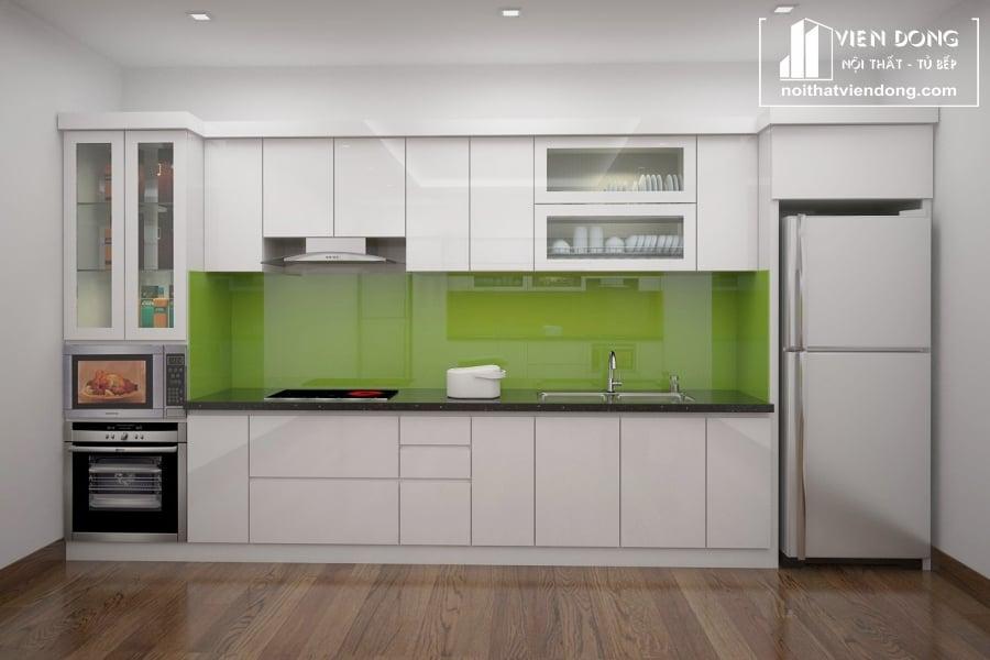 Tủ bếp nhựa acrylic TBN040 đẹp