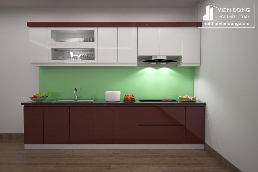 Tủ bếp nhựa cao cấp TBN049 đẹp