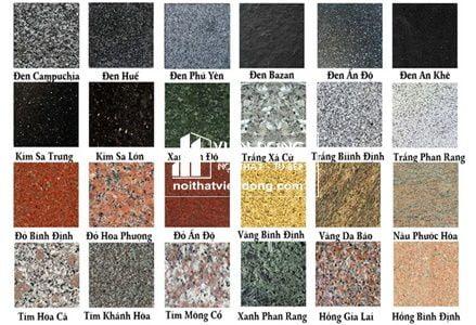 mẫu đá Granite