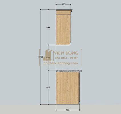 kích thước tủ bếp tiêu chuẩn dành cho người Việt